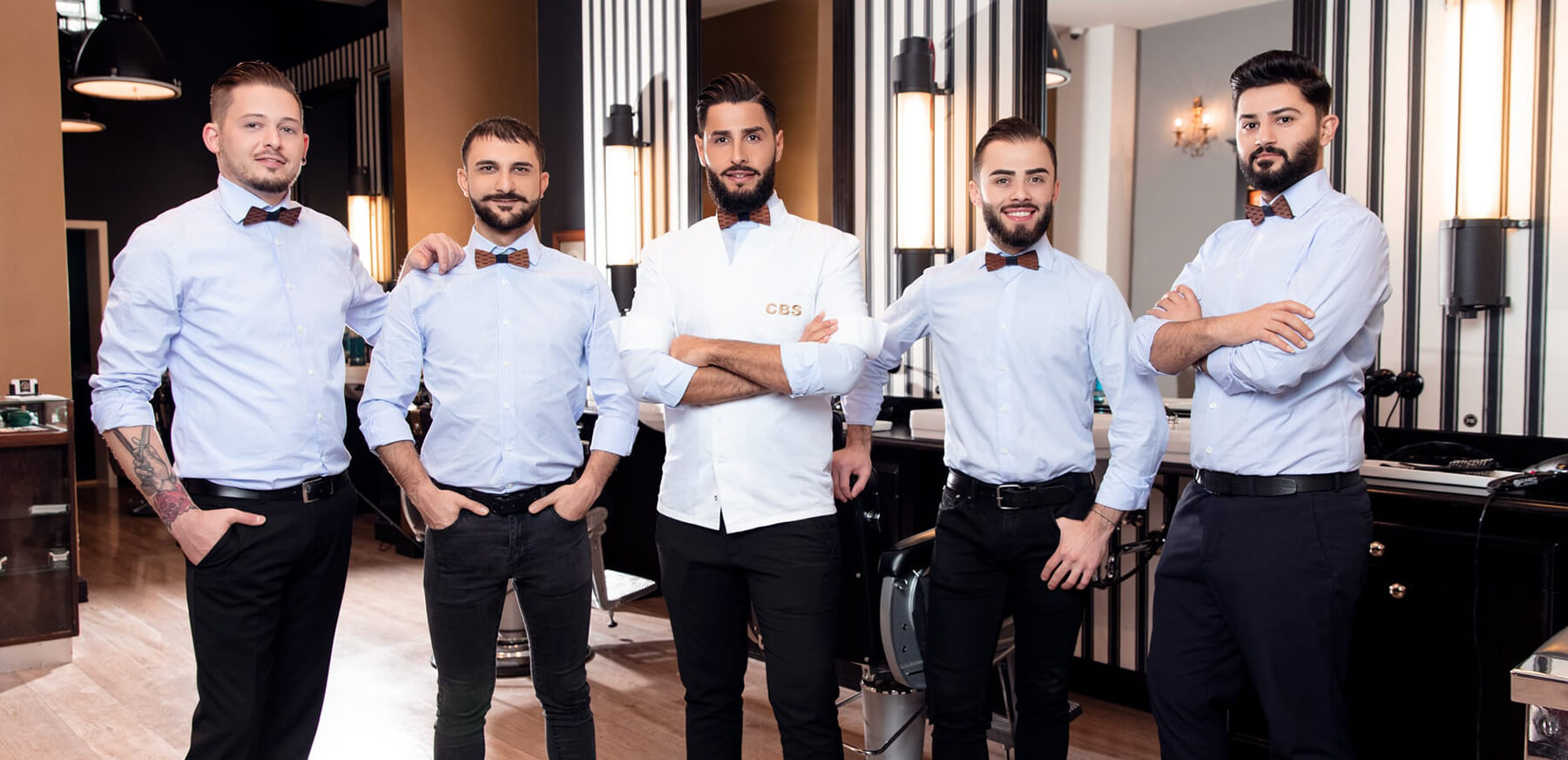 Ahmed Al Musawi Herrenfriseur Barber Captains Barber Shop Düsseldorf Team
