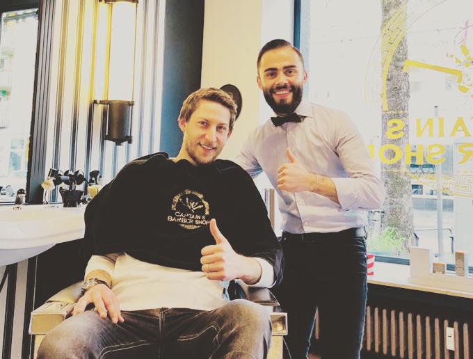 Stefan Kiesslieng im Captain's Barber Shop Herrenfriseur Düsseldorf