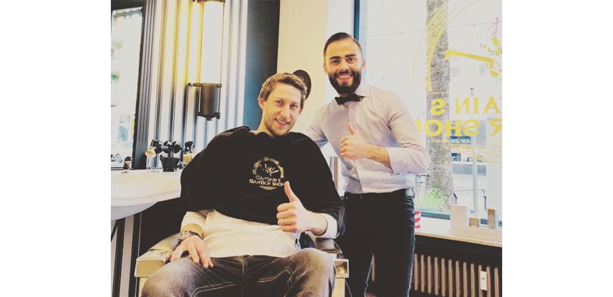 Stefan Kießling beim Captain's Barber Shop & Herrenfriseur Düsseldorf